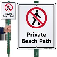 Private Beach Path LawnBoss Sign