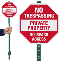 Private Property No Beach Access LawnBoss Sign