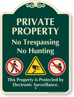Private Property No Trespassing Signature Sign