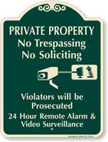 Private Property, Violators Prosecuted Signature Sign
