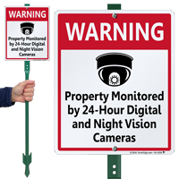 Property Monitored By Night Vision Cameras Sign
