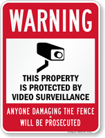 Property Is Protected By Video Surveillance CCTV Sign