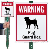 Warning Pug Guard Dog LawnBoss™ Signs