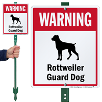 Warning Rottweiler Guard Dog LawnBoss™ Signs