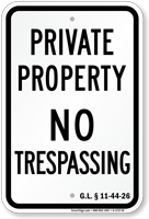 Rhode Island No Trespassing Sign