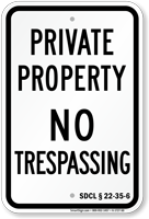 South Dakota No Trespassing Sign