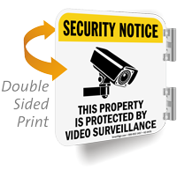 Security Notice Video Surveillance Property Sign