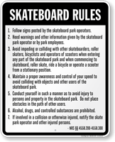 Skateboard Law Sign For Nevada