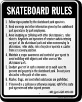 Skateboard Law Sign For Nevada
