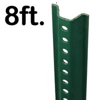 Standard U-Channel Sign Post - 8' tall