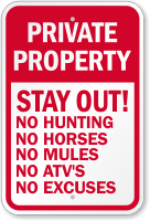 Stay Out Private Property Sign