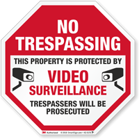 Trespassers Will Be Prosecuted No Trespassing Sign