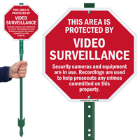 Area Protected By Video Surveillance Sign