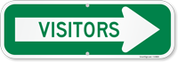 Visitors Sign With Arrow