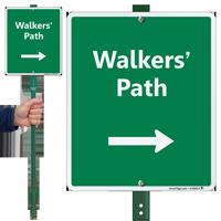 Walker's Path LawnBoss Sign with Arrow