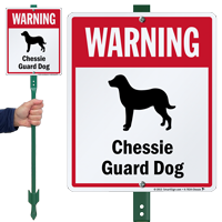 Warning Chessie Guard Dog LawnBoss Sign