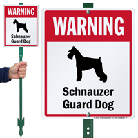 Warning Schnauzer Guard Dog LawnBoss Sign