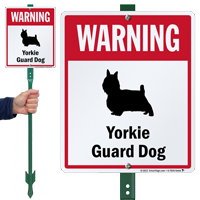 Warning Yorkie Guard Dog LawnBoss™ Signs