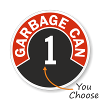Garbage Can Label Choose from Garbage Can 1 to 10