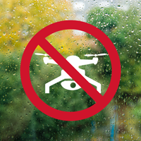 No Drone Liability Die Cut Glass Window Decal