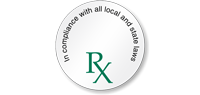 Rx Compliance With All Local State Laws Label