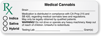 California Rx Medical Cannabis Strain Label with Blanks