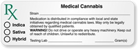 Rx Medical Cannabis Strain with Blanks Label