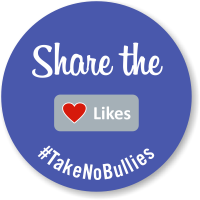 Share The Likes No Bullies Label