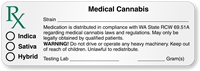 Washington Rx Medical Cannabis Strain Label with Blanks