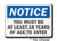 Entrance Security Check Sign