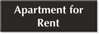 Apartment For Rent Select-a-Color Engraved Sign