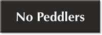 No Peddlers Engraved Sign