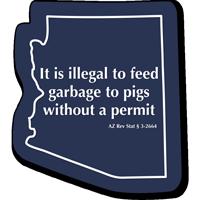 Arizona Animal Safety Novelty Law Sign