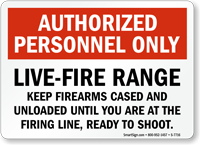 Live-Fire Range Sign