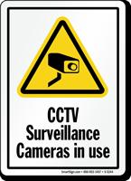 CCTV Surveillance Cameras Sign