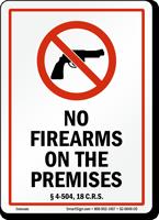 Colorado Gun Control Law Sign