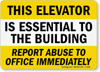 Report Abuse To Office Immediately Sign