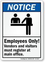 Employees Only Notice Sign