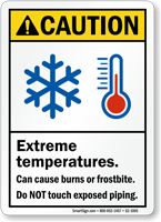 Extreme Temperatures Do Not Touch Sign