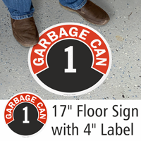 Garbage Can 1 to 10 Floor Sign & Label Kit