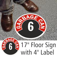 Garbage Can 6 Floor Sign & Label Kit
