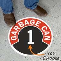 Garbage Can - 1 Floor Sign