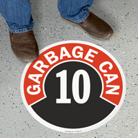 Garbage Can - 10 Floor Sign