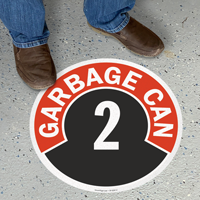 Garbage Can - 2 Floor Sign