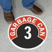 Garbage Can - 3 Floor Sign