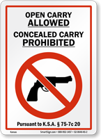 Kansas Gun Control Law Sign
