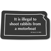 Kansas Rabbits Safety Novelty Law Sign