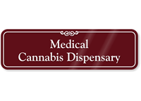 Medical Cannabis Dispensary ShowCase Wall Sign