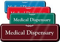 Medical Dispensary ShowCase Wall Sign