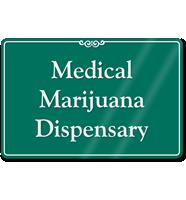Medical Marijuana Dispensary ShowCase Wall Sign